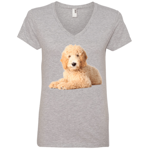 GoldenDoodle Ladies V-Neck Tee