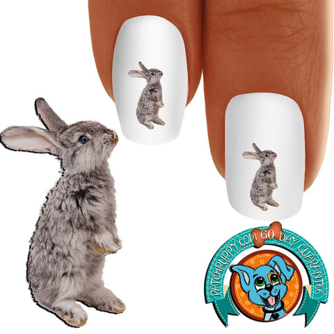 Easter Bunny Nail Art Decals (Now! 50% more FREE)