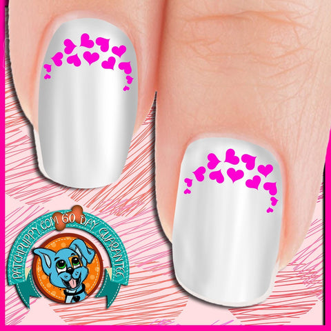 Edgy Pink Heart Nail Art Decals (Now 50% more!)