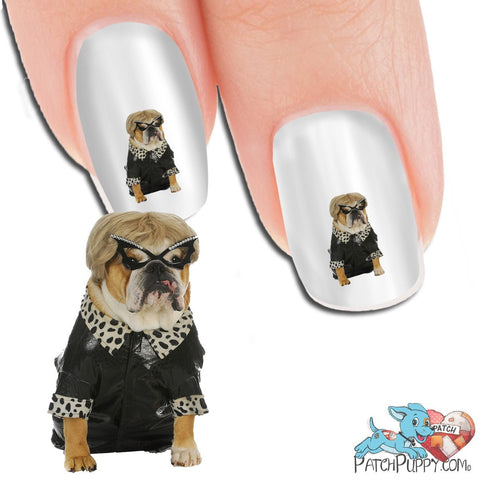 English Bulldog I'm An Old Lady Nail Art Decals (Now 50% More FREE)