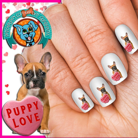 French Bulldog Puppy Love Nail Art Decals (Now! 50% more FREE)
