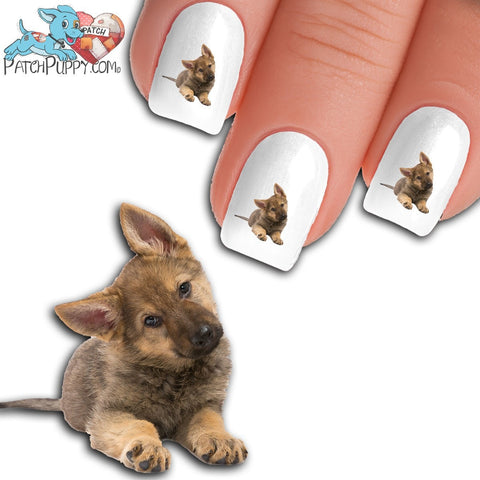 German Shepherd Come Home Soon Nail Decals (NOW 50% MORE FREE)