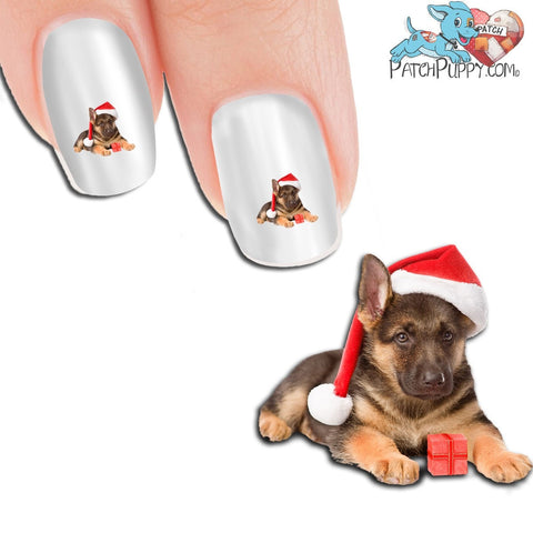 German Shepherd Santa Nail Art (NOW 50% MORE FREE)