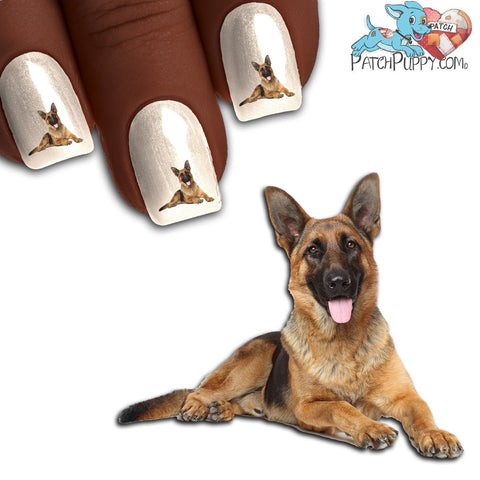 German Shepherd Say Cheese Nail Art Decals (Now 50% More FREE)