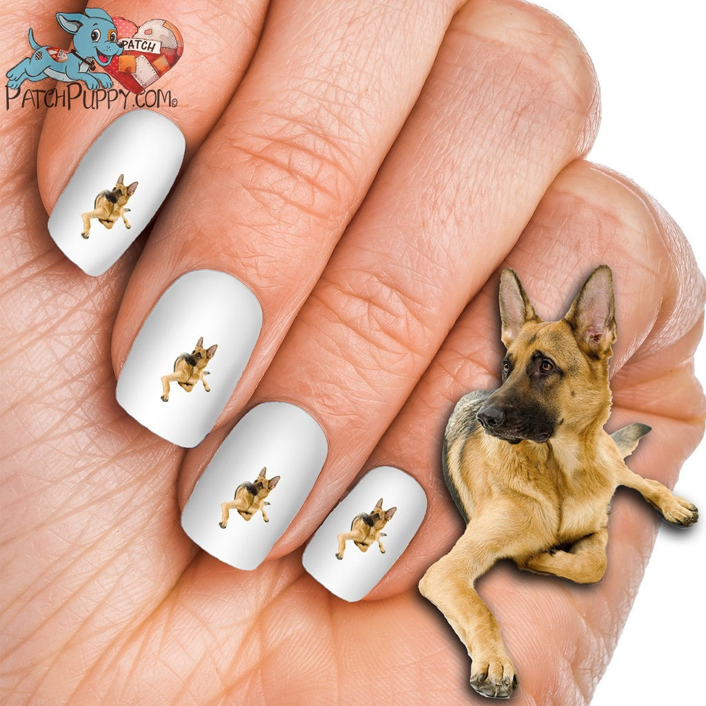 German Shepherd Soulful Nail Art Decals Now 50 More Free Patch