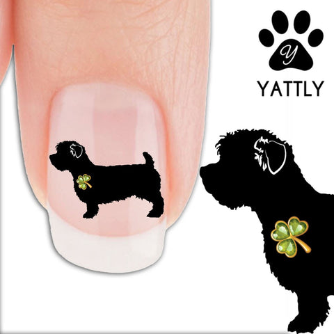 Glen Imaal Terrier Shamrock - Nail Art Decals (Now! 50% more FREE)
