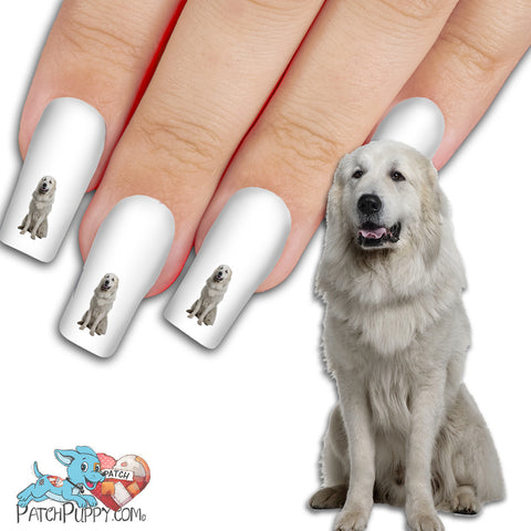 Great Pyrenees Sitting Nail Art (NOW 50% MORE FREE)