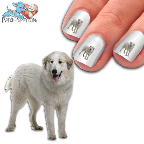 Great Pyrenees Standing Nail Art (NOW 50% MORE FREE)