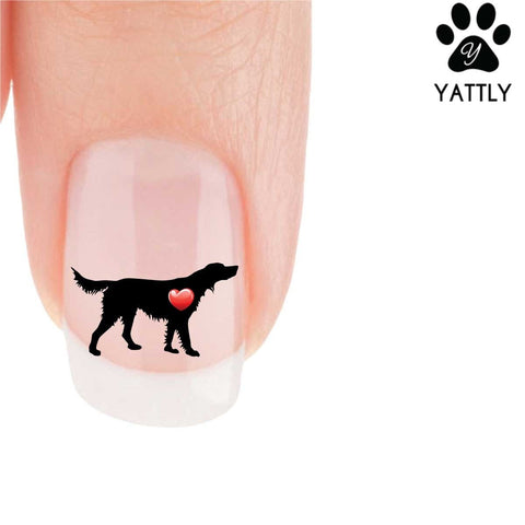 My Heart Irish Setter Nail Art Decals (Now 50% More FREE)