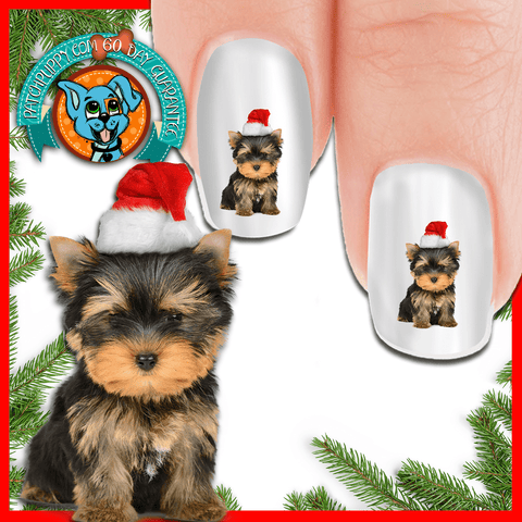 It's a Yorkie Christmas - Nail Art ( NOW 50% MORE FREE)