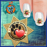 K9 Officer Honor - Nail Art Decals (Now! 50% more FREE)