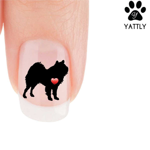 My Heart Keeshond Nail Art Decals (Now 50% More FREE)