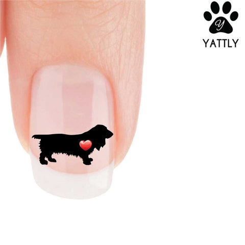 My Heart Long-Hair Dachshund Nail Art Decals (Now 50% More FREE)