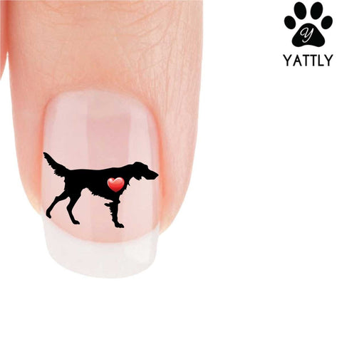 My Heart German Long-Haired Pointer Nail Art Decals (Now 50% More FREE)