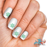 Lace Kelly Green Pawprint Nail Art Decals (Now! 50% more FREE)
