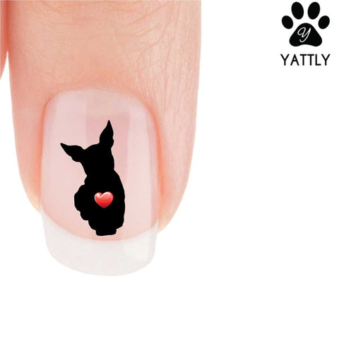 My Heart Miniature Pinscher Nail Art Decals (NOW 50% MORE FREE)