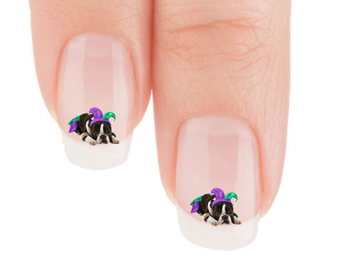 Boston Terriers Ready For Mardi Gras Nail Art Decals Now 50 More