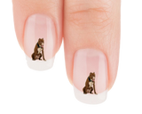 Pit Bull I Am Happy Go Lucky Nail Art Decals (NOW 50% MORE FREE)