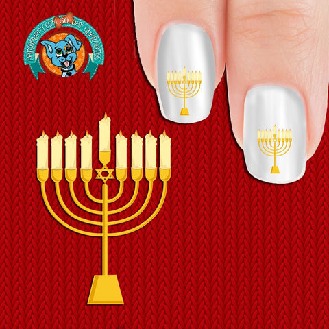 Menorah Nail Art Decals (Now! 50% more FREE)