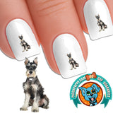 Miniature Schnauzer So Serious Nail Art Decals (NOW 50% MORE FREE)
