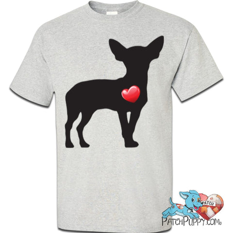 """My Heart"" Chihuahua Custom Ultra Cotton T-Shirt"