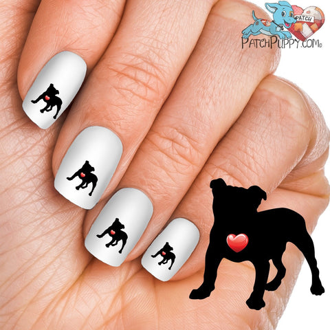 My Heart English Bulldog Nail Art Decals (Now 50% More FREE)
