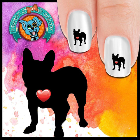 My Heart French Bulldog Nail Art Decals (Now 50% More FREE)