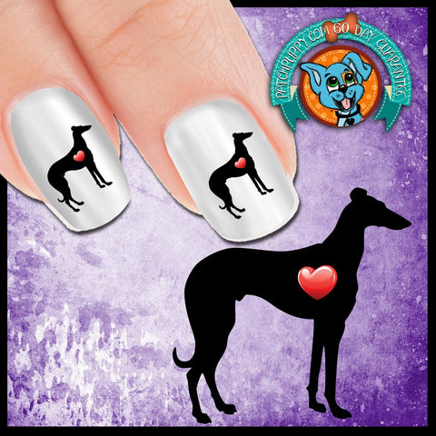 My Heart Greyhound Nail Art Decals (Now 50% More FREE)