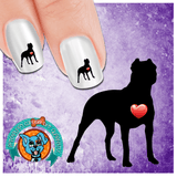 My Heart Pit Bull Nail Art Decals (Now 50% More FREE)