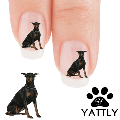 Doberman I did not do it Nail Art ( 50% MORE FREE)