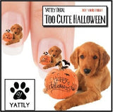 Golden Retriever Halloween Puppy Nail Art Decals (NOW 50% MORE FREE)