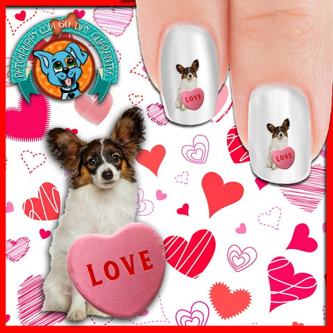 Papillon Valentine Love Nail Art Decals (Now! 50% more FREE)