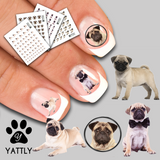 Snuggle a Pug Nail Decal Pack - Save $11.97!