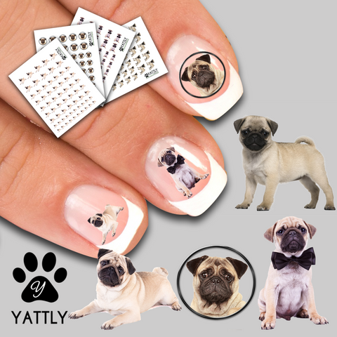 Snuggle a Pug Nail Decal Pack Bundle