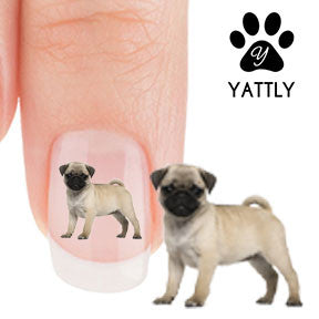 Pug Puppy Party - Nail Art Decals (Now! 50% more FREE)