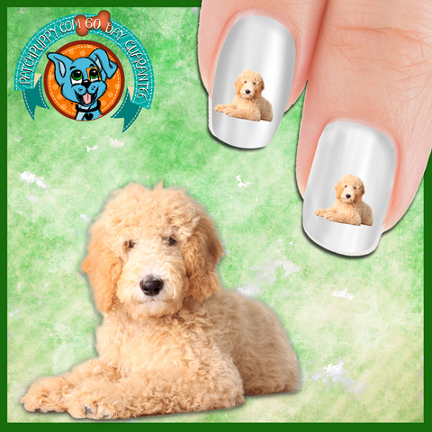 Puppy Love Golden Doodle Nail Art Decals (Now 50% more FREE)