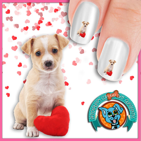 Puppy with a Heart Nail Art Decals (Now! 50% more FREE)
