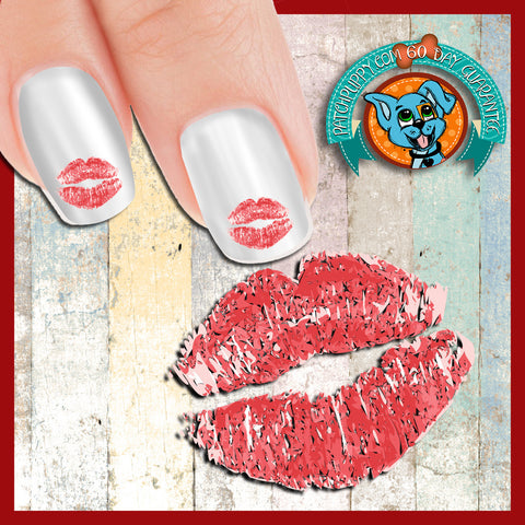 Red Lips Nail Art Decals (Now! 50% more FREE)