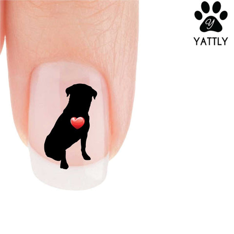 My Heart Rottweiler Nail Art Decals (Now 50% More FREE)