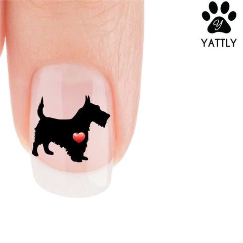 My Heart Scotty Dog Nail Art Decals (Now 50% More FREE)