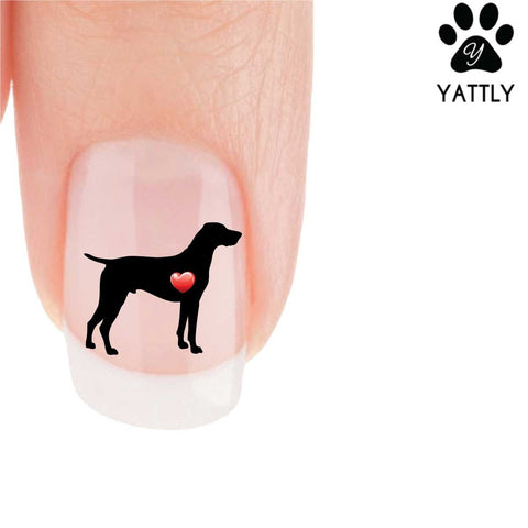 My Heart German Short Haired Pointer Nail Art Decals (Now 50% More FREE)