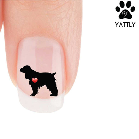 My Heart Springer Spaniel Nail Art Decals (Now 50% More FREE)