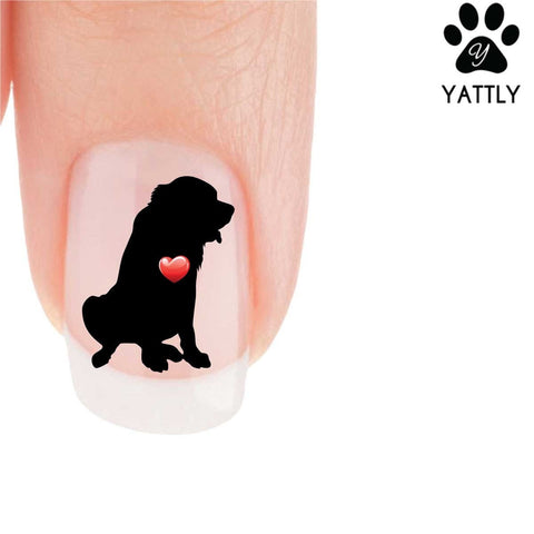 My Heart St. Bernard Nail Art Decals (NOW 50% MORE FREE)