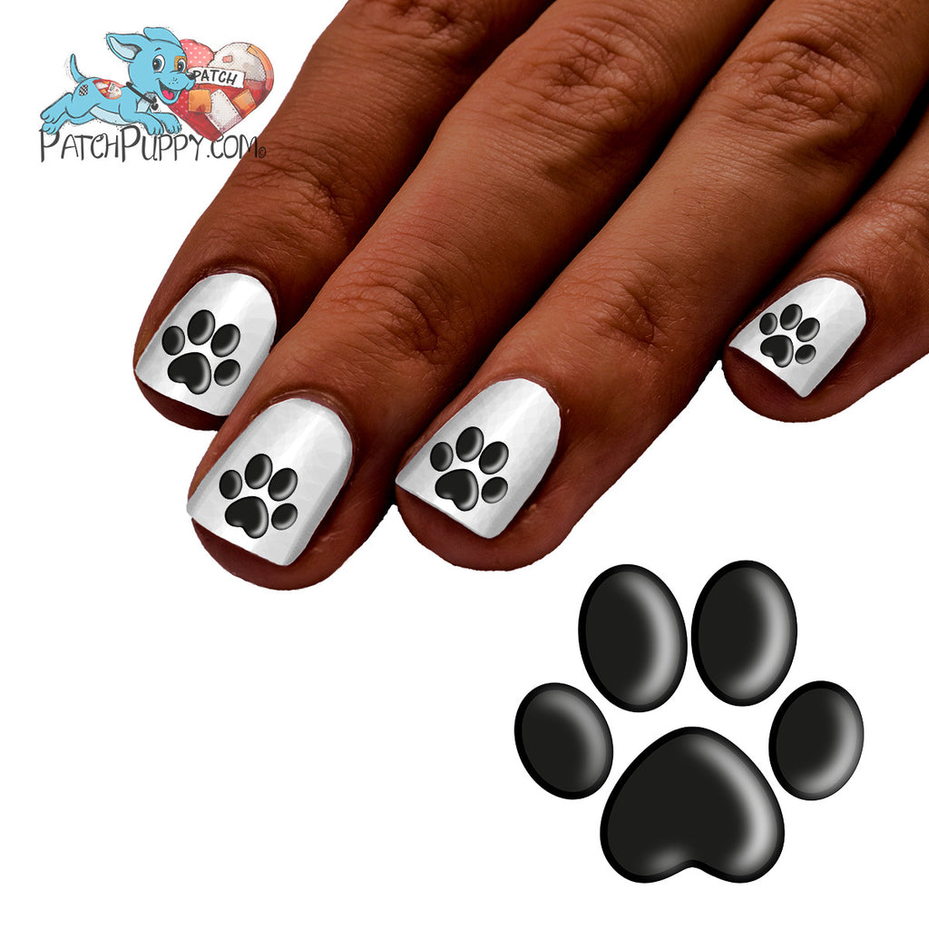 Shadow Paw Print Nail Art Decals Now 50 More Free Patch Puppy