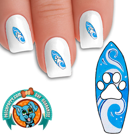 Surf Puppy Nail Art Decals (Now! 50% more FREE)