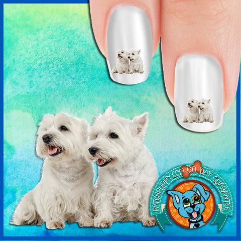 West Highland White Terrier Better Together Nail Art Decals (Now! 50% more FREE)