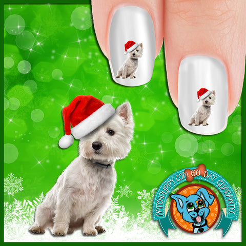 West Highland White Terrier Santa Said What Nail Art Decals (Now! 50% more FREE)