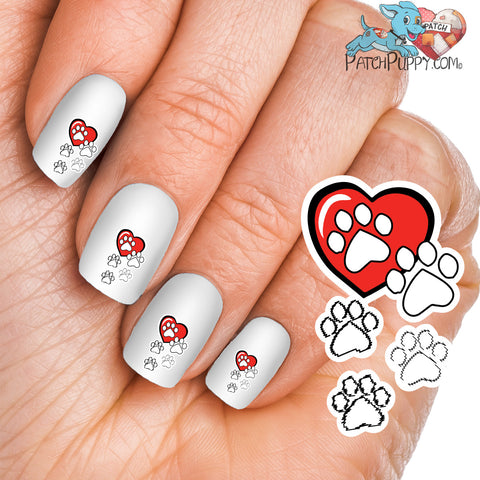 Who Rescued Who? Paw Print Nail Art Decals (now 50% More FREE)
