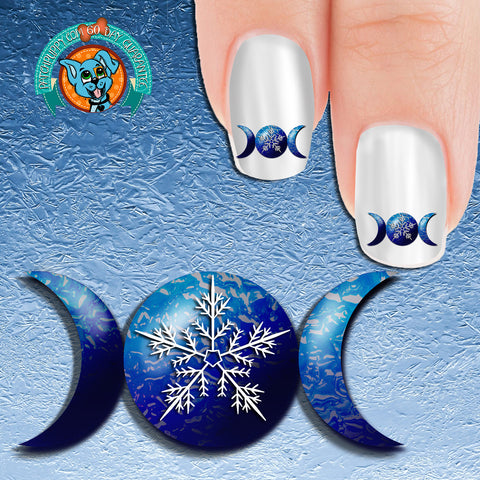 Winter Solstice Triple Moon Nail Art Decals (Now! 50% more FREE)