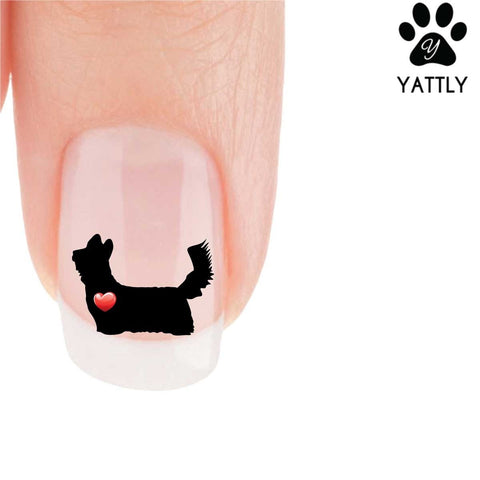 My Heart Yorkie (standing) Nail Art Decals (NOW 50% MORE FREE)